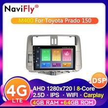 Octa Core Android 10.0 Car multimedia radio Player for Toyota Land Cruiser Prado 150 2010-2013 autoradio CAR GPS navigation