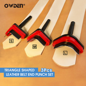 OWDEN 3Pcs Leather Triangle Sh
