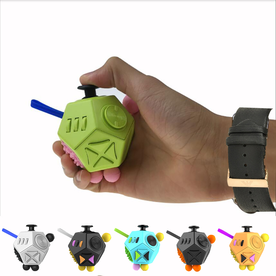 12 Sided Creative Puzzle Toy Stress Relieve Dice Anti-anxiety Anti Stress Cube Toy And Anxiety Relief Depression Adult Kids Toy