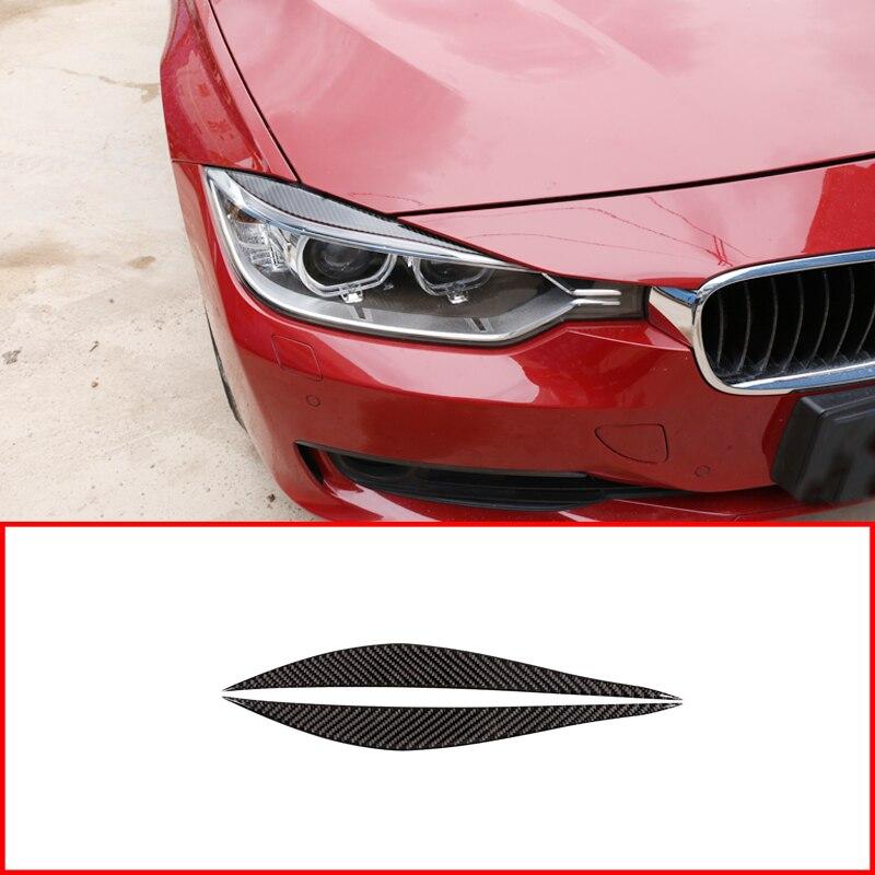 Tiras de luz antiniebla delantera para coche, accesorio de fibra de carbono suave para BMW Serie 3 4, F30, F32, F33, F36, 2003-2012, 2 uds.