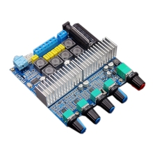 Placa amplificadora Bluetooth 5,0 TPA3116D2 para Subwoofer, amplificador de Audio estéreo de alta potencia de 2,1 canales, placa 2*50W + 100W DC12V 24V AMP
