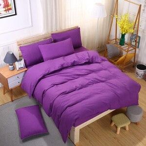 Image 4 - Conjunto de cama minimalista, jogo de cama de tinta azul e com fronha, fronha cinza, confortável e macia, queen, para o verão completo