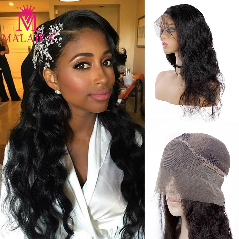 MALAIKA Body 13x4 Lace Frontal Wig With Baby Hair Body Wave 13x4 Lace Front Human Hair Wigs