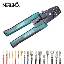 EUROP STYLE Crimping Tool Crimping Plier Wire Stripper Cutter Crimper WireTool 10-26AWG Quadrilateral Tube Bootlace Terminal