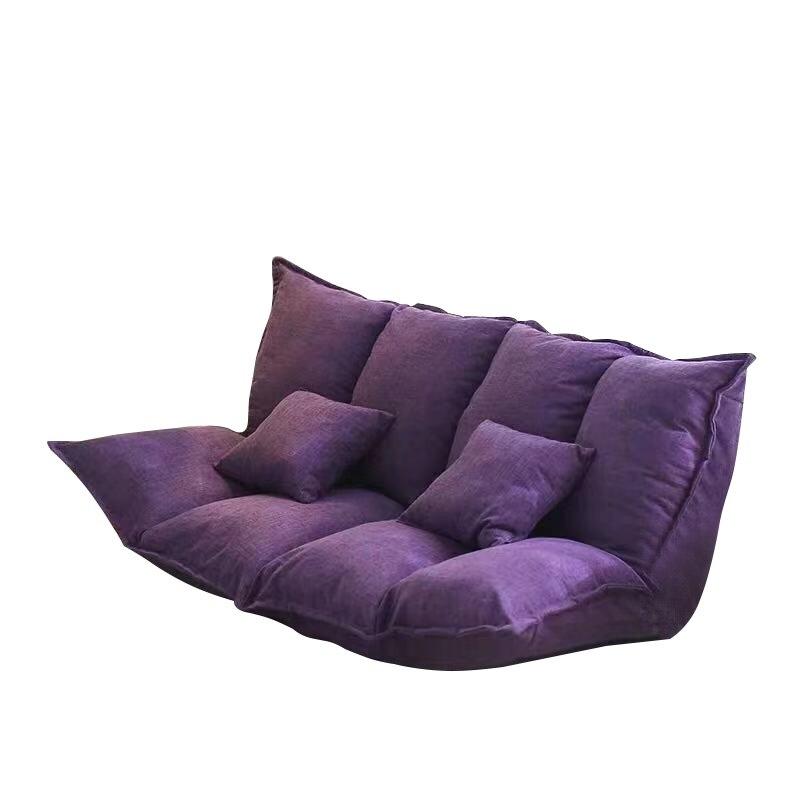 Tissu de lin tapisserie d'ameublement plancher réglable canapé-lit salon canapé-lit étage paresseux homme canapé salon meubles vidéo jeu canapé