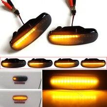 2x fumaça dinâmica led lado marcador luz de volta lâmpada sinal para fiat panda punto evo stilo qubo peugeot citroen lancia musa 350