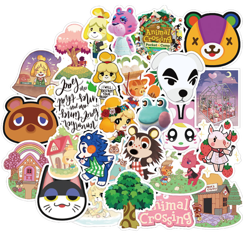 50PCS Animal Crossing Game Stickers Skateboard Fridge Guitar Laptop Motorcycle Travel Luggage Classic Toy Sticker for Kid Gift(China)