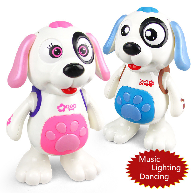 Baby Kids Toy Playful Electronic Pet Dancing Dog Electric Music Lighting Baby Toy Doll Children Gift