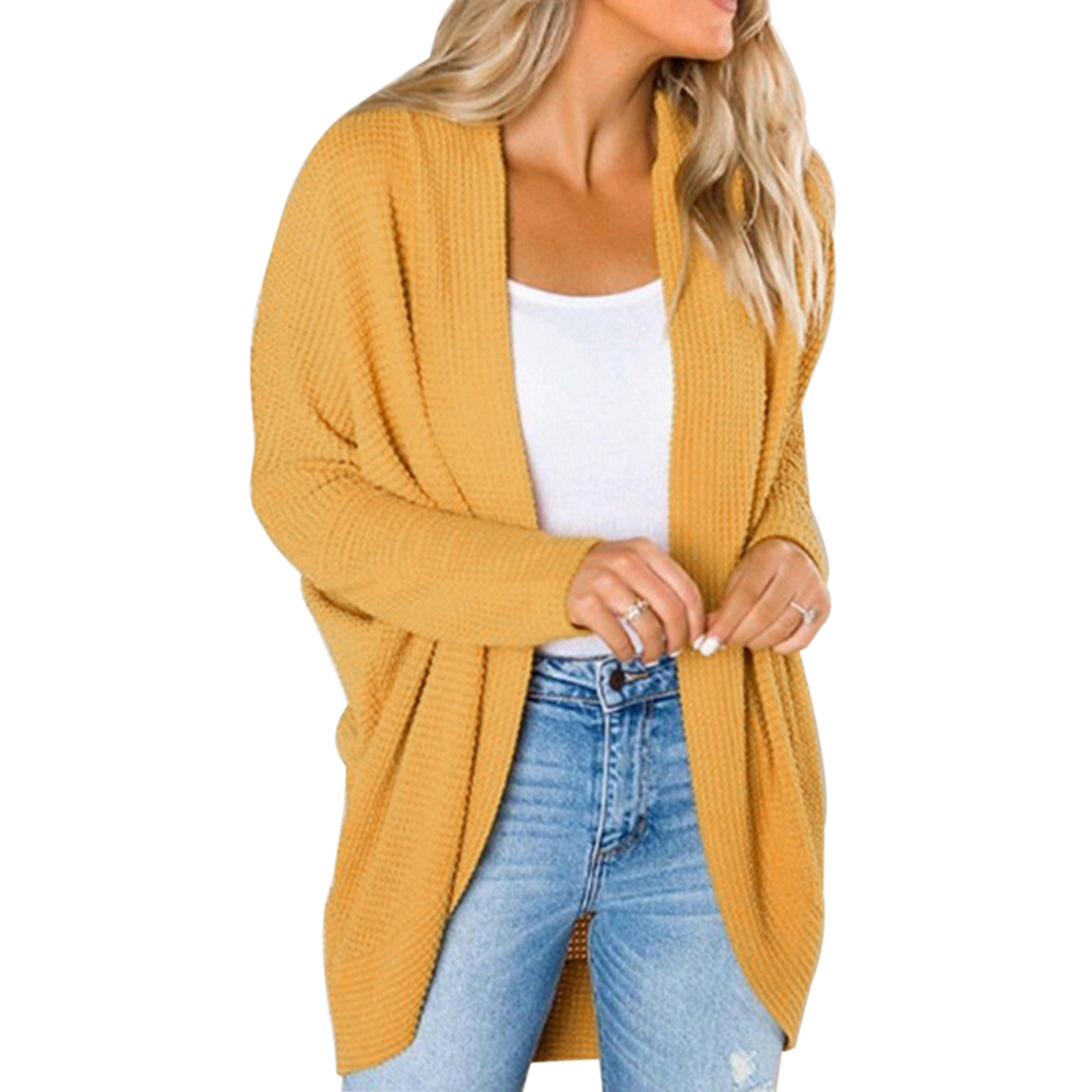LOOZYKIT Autumn Winter Knitwear Cardigan Sweaters Women Long Sleeve Large Size Knitted Sweater Cardigan Female Solid Jumper Coat