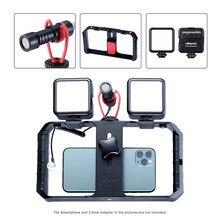 Ulanzi vlogs kit de gravação de telemóvel, mini ferramenta de vídeo com microfone para gravação de celular