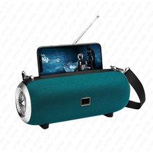Alta potência alto-falante sem fio bluetooth coluna poderosa caixa de som portátil ao ar livre à prova dwaterproof água soundbar boom box suporte do telefone