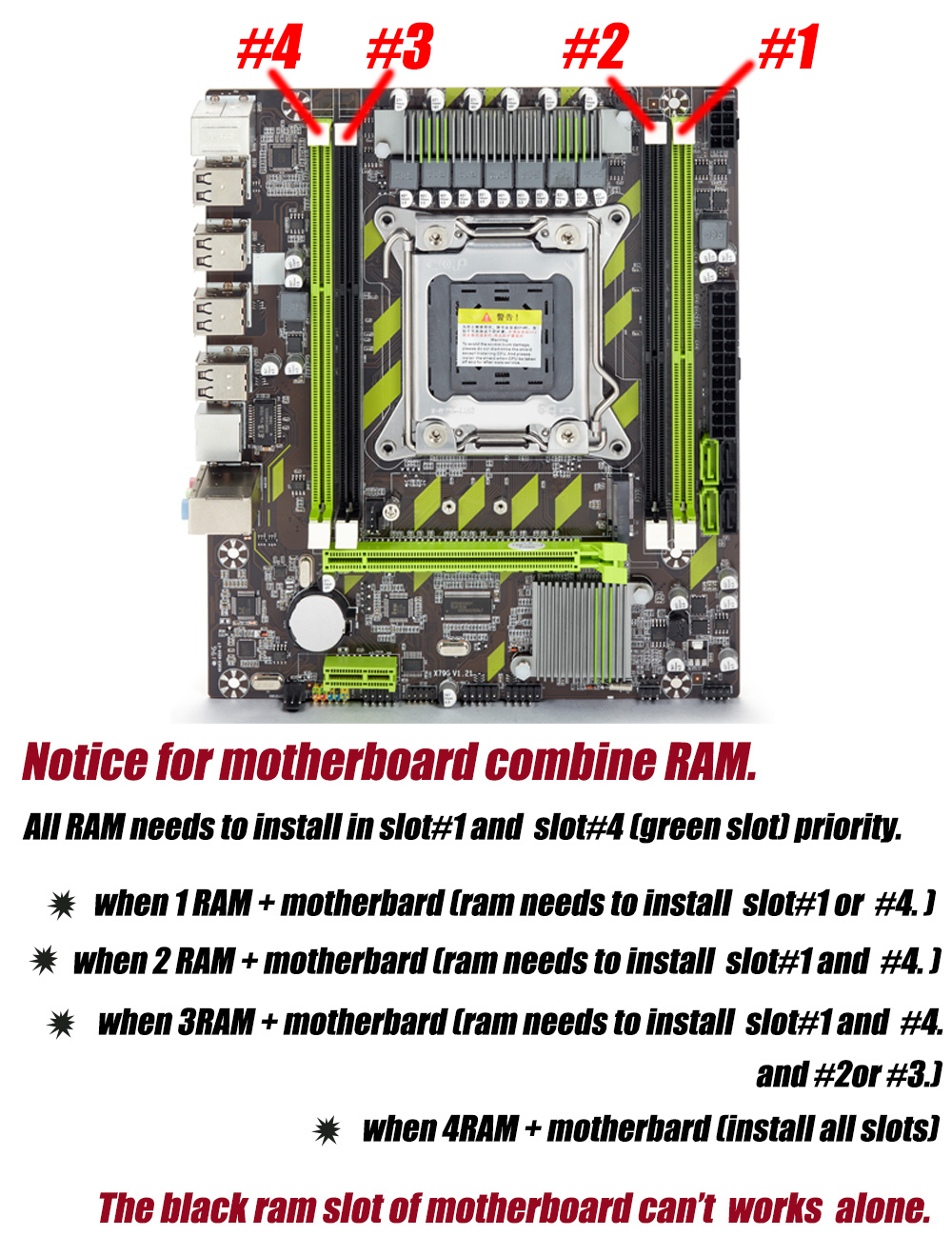Atermiter X79  X79G motherboard LGA 2011 USB2.0 SATA3 support REG ECC memory and Xeon E5 processor 4DDR3