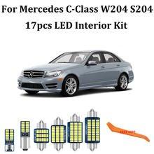 Kit d'éclairage intérieur, 17 pièces, 100% sans erreur, pour Mercedes classe C W204 S204 C180 C220 C230 C250 C280 C300 C320 C350 C63 AMG