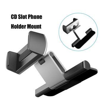 Aluminum Car CD Slot Mount Cradle Holder Universal Mobile Phone Stand Holder Bracket for iPhone X for Samsung GPS Car Holder