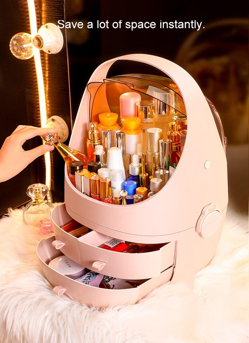 Multifunctional Cosmetic Storage Box Space Capsule Drawer Desk Desktop Plastic Cosmetic Storage Box Large Capacity
