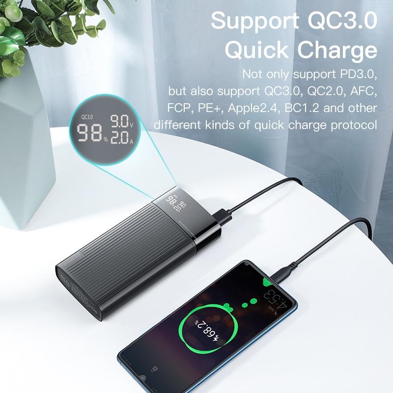 KUULAA Power-Bank External-Battery-Charger USB Fast-Charging 20000 Mah Xiaomi Mi QC