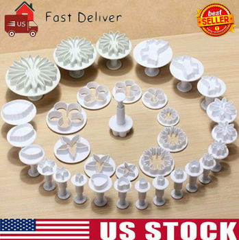 33 Pcs Fondant Cake Decorating Sugarcraft Plunger Cutter Tools Mold Mould Cookies Bakeware Sets decorating cookies party