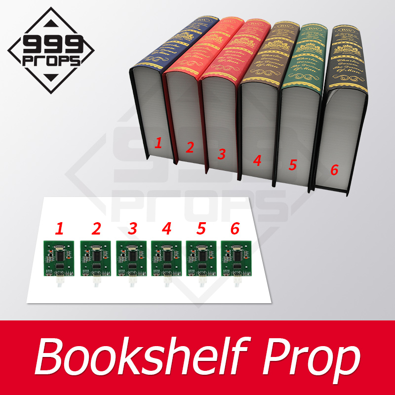 999PROPS Bookshelf Prop Escape Room Prop Put All Books In Corrct Place To Open Real Life Chamber Game Supplier