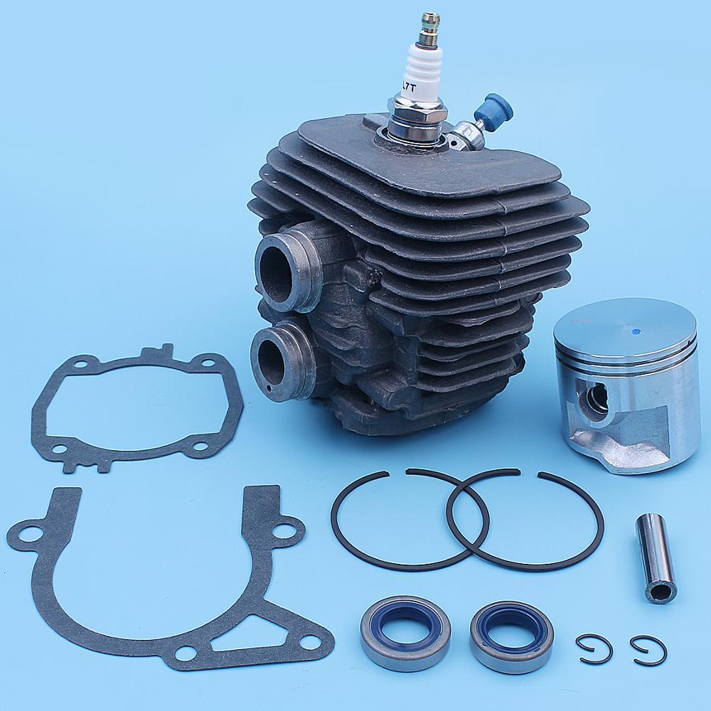 50mm Nikasil Coated Cylinder Piston Top Rebuild Kit For Stihl TS410 TS420 Cut Saw  4238-020-1205 4238-020-1202 Spare Part