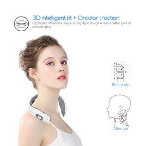Image 2 - Appareil de massage intelligent à impulsions pour le cou, stimulateur électrique, soulagement des douleurs cervicales, thérapie, acupuncture, application par ventouses