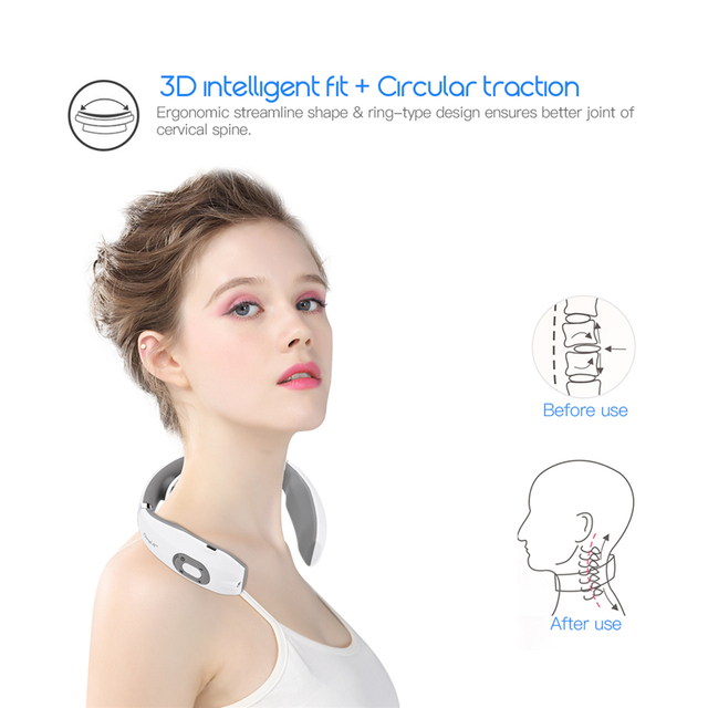 Electric Pulse Neck Massager Cervical Traction Collar Therapy Pain Relief Stimulator Guasha Acupuncture Cupping Patting Massage 1