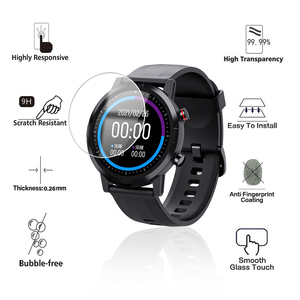Image 3 - 5Pcs 9H Premium Tempered Glass For Xiaomi Smart Watch Youpin Haylou RT LS05S Solar LS05 Screen Protector Film Accessories