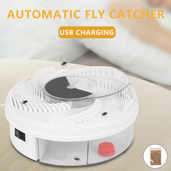 Electric Flycatcher USB Electric Automatic Fly Trap Trapping Fly Killer Household Garden Use Insect Pest Reject Control Catcher electric flycatcher automatic fly trap device with trapping food fly catcher trapper pest insect flytrap usb type fly trap bait