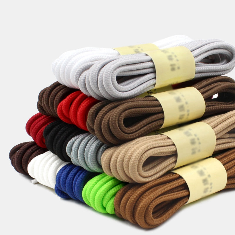 1 Pair Round Shoelaces Top Quality Polyester Classic Off White Shoe Laces Do Not Fade Outdoor  Leisure Sneakers Shoe Lace Unisex