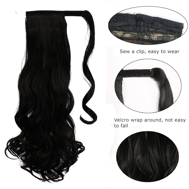 Long Wavy Ponytail Extension 1