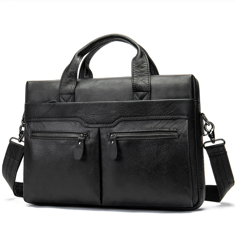 100 % Genuine Leather Bag For Men's Briefcase Bussiness Laptop Bags For Documents Messenger Handbags Tote Briefcase For Men