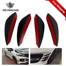 Fin Car-Spoiler Auto-Body-Kit Carbon-Fiber Canards Chin-Accessory Front-Bumper-Lip-Splitter