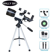 Astronomical Telescope Space Wide-Angle Tripod Present 150X Monocular with Student Observation