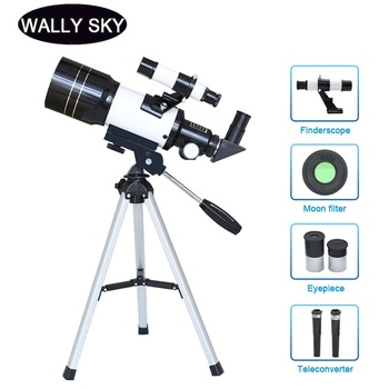 hd large aperture 76mm newtonian reflector astronomical telescope 350 times zooming reflective for space observation f76700 150X Astronomical Telescope 70 mm Wide Angle Kids Astronomical Monocular Telescope with Tripod Student Space Observation Present