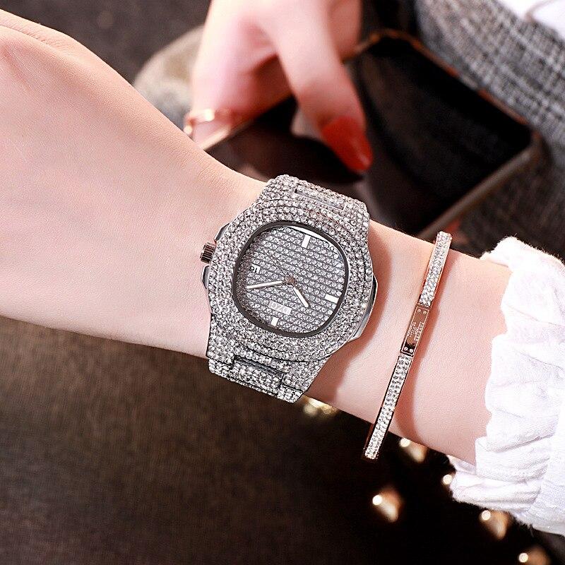Top Luxury Women Bracelet Watch Fashion Crystal WristWatches Womens Watches Dress Ladies Quartz Clock Dropshiping Reloj Mujer