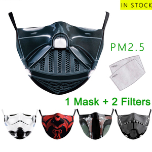 PM2.5 Reusable Facemask Anti-dust Mask Printed Cotton Breathable Face Masks Fashionable Mouth Cover Washable Facemasks Maske