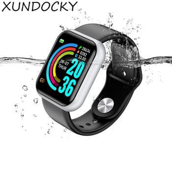Smart Sports Watch Unisex Digital Display Led Electronic Watch Bluetooth Application Fitness Running Bracelet 6