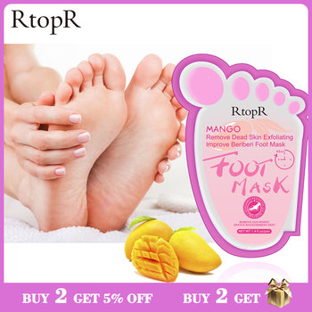 RtopR Moisturizing Whitening Foot Mask Exfoliating Dead Skin Pedicure Cream Foot Spa Repair Dry Cracked Foot Skin Foot Care daralis foot spa foot scrub cream exfoliating foot peeling cream dead skin remove whitening smooth moisturizing feet cream 200g
