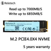 Reletech ssd m2 nvme pcie 4.0x4 phison e18 m.2 1tb 2tb ler até 7000 mb/s 3d nand unidade de estado sólido 2280 disco rígido interno