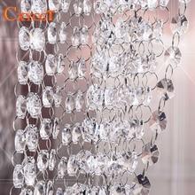 Garland Diamond K9 Crystal Octagonal Beads Curtain Bead Pendant Lighting for Pendant DIY Home Decoration 5m 14mm