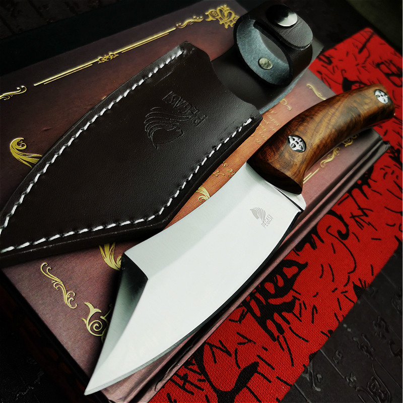Huanghua  Wooden Handle S Chef Tactical Slicing Slaughtering Pear Knife Knife Straight Integrated PEGASI Knife Boning Steel D2