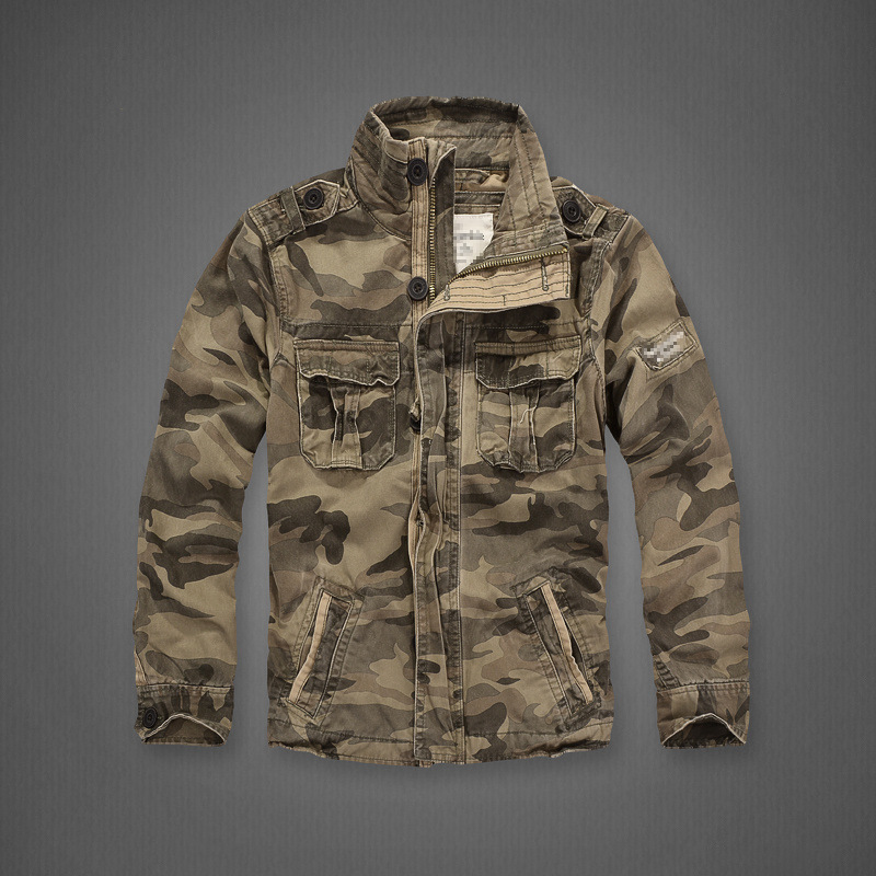 Denim Camouflage <font><b>Military</b></font> <font><b>Jacket</b></font> Men Stand Collar Army Camo <font><b>Jacket</b></font> Outwear Overalls Men <font><b>Winter</b></font> Thick Pure Cotton Casual Coat XXL image
