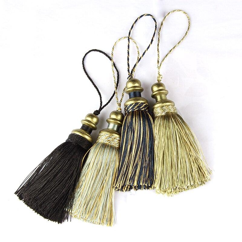 1PC Hanging Rope Silk Tassels Fringe Sewing Tassel Trim Key Tassels For DIY Embellish Curtain Accessories