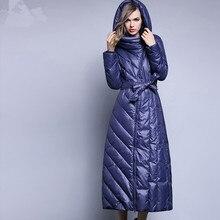 6XL plus size White Duck Down Jacket Women's Winter
