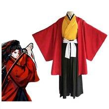 Костюм кимоно для косплея «рассекающий демонов» красная униформа