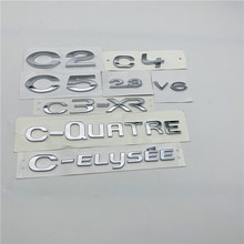For Citroen C2 C4 C5 2.3 V6 C3 XR C elysee C QUATRE Emblem Rear Tailgate Lid Logo Nameplate Script