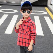 INS HOT Boys Shirt bawełna 4-13 lat koreański t-shirt Baby Boy Shirt Plaid koszule z długim rękawem dla dzieci ubrania luźny pulower Shirt tanie tanio vangull Moda COTTON Pełna Pasuje prawda na wymiar weź swój normalny rozmiar Tkane Chłopcy WCOUT20181 REGULAR Skręcić w dół kołnierz