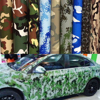 Premium Digital Woodland Green Camo Camouflage Desert Vinyl Film Sticker DIY Motorcycle Automobiles Car Styling Accessories image
