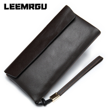 Authentic Men's Ladies Wallet Casual Leather Head Layer Leather Clutch Long Wallet Large Capacity Multi-function Coin Purse
