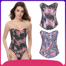 and the United States of corsets spot wholesale rose printed cloth art belly in waist waist shape body palace vest(China)