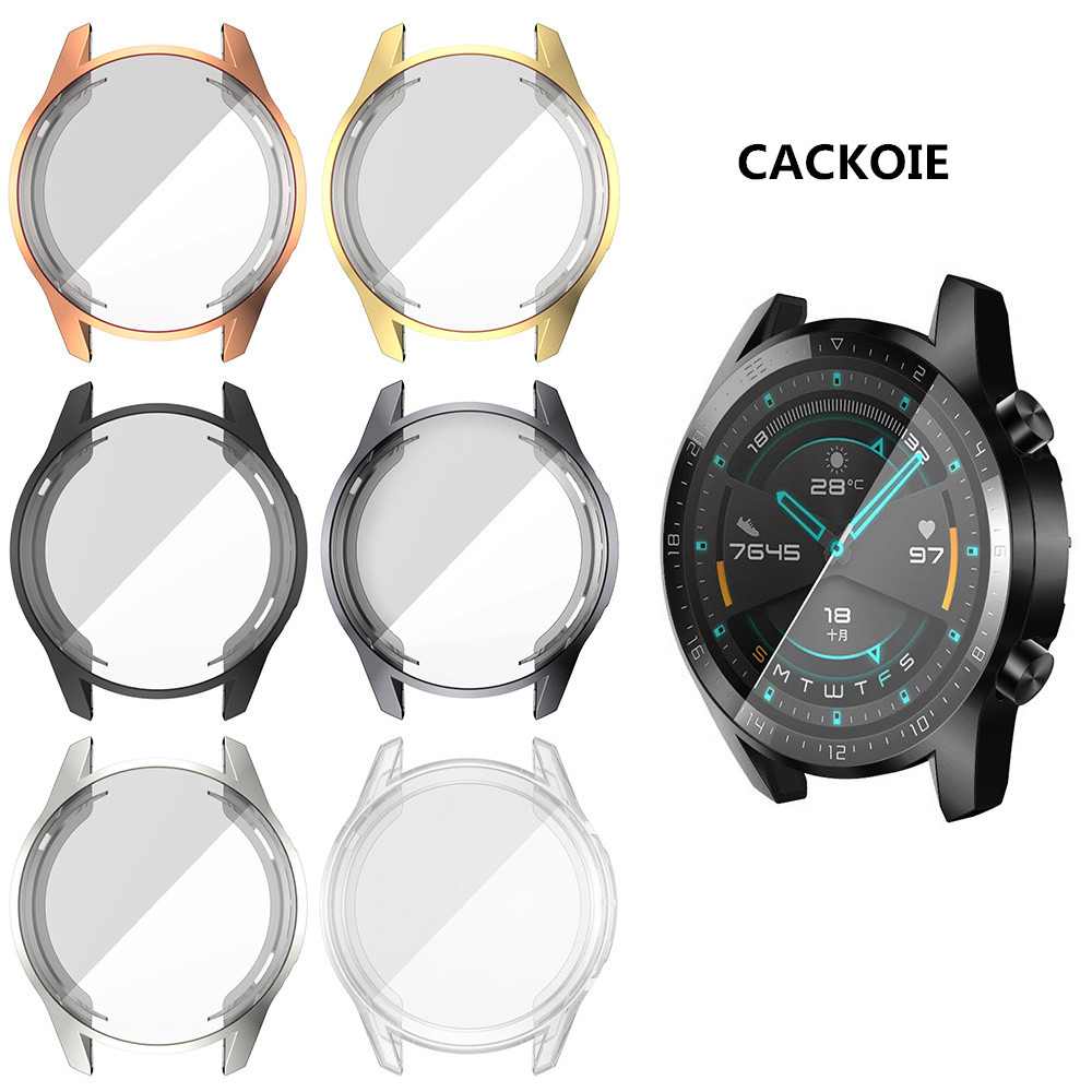 For Huawei Watch GT And GT 2 Smart Watch 46mm 42mm Protection Case Clear Thin TPU Cover Replacement Film Frame Shell Case Protec